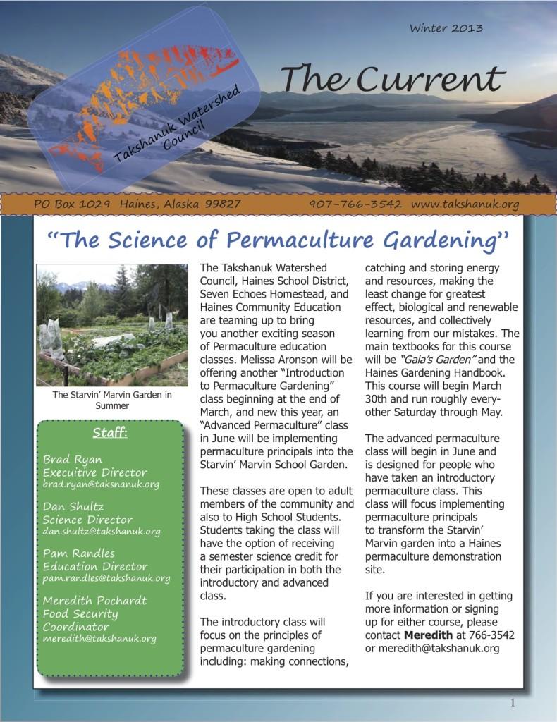 TWC_Winter 2013 Newsletter